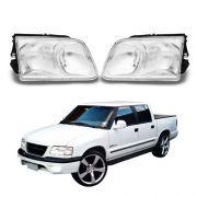 Farol – Pickup S10 e Blazer – Prata / Máscara Cromada - Modelo Original – 95 96 97 98 99 00 - Marca Inov9