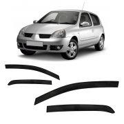 Jogo Calha Clio Hatch E Sedan 2000 À 2013 2014 4p Fumê #2200