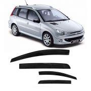 Jogo Calha Peugeot 206 Sw Escapade 207 2000 A 2013 Fumê#2199