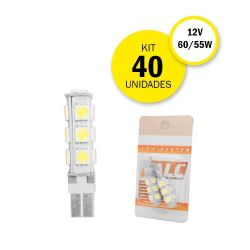 KIT 20 LAMPADAS PINGO 13 LEDS T10