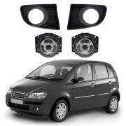 Kit Farol de Milha com LED – Fiat Idea – Lente de Termoplástico – 06 07 08 09 10 – Marca Inovway