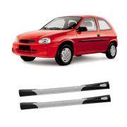 Kit Spoiler Lateral Corsa 4 Portas – Produto Bi-Partido Preto com Aplique Prata e Tela Air Point – 94 95 96 97 98 99 00 01 02  – Marca Inovway