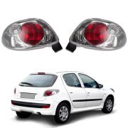Lanterna Cristal – Peugeot 206 – Modelo Esportivo / Tuning – 96 97 98 99 00 01 02 03 04 05 06 07 08 – Marca Inovox