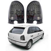 Lanterna Fumê com LED – Gol G3 – Modelo Esportivo / Tuning – 00 01 02 03 04 05 – Marca Inovox