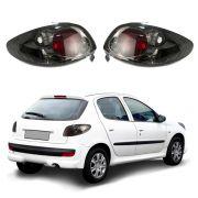 Lanterna Fumê – Peugeot 206 – Modelo Esportivo / Tuning – 96 97 98 99 00 01 02 03 04 05 06 07 08 – Marca Inovox