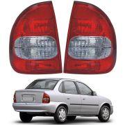 Lanterna Traseira – Corsa Sedan e Corsa Classic – Modelo Original – Fumê / Preto – 03 04 05 06 07 08 09 10 – Marca Inovox