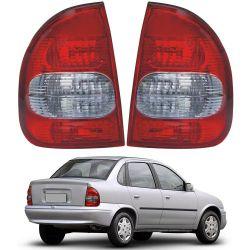 Lanterna Traseira Corsa Sedan Classic 00 01 02 03 04 05 06 07 08 09 10 Com Ré Fumê