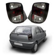 Lanterna Traseira – Palio G1 – Modelo Esportivo / Tuning – Fumê / Rubi – 96 97 98 99 00 – Marca Inovox
