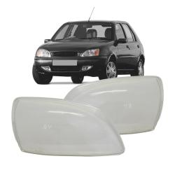 Lente Farol Fiesta Hatch e Sedan 00 01 02 03 Courier 00 01 02 03 04 05 06 07 08 09 10 11 12 13 Vidro