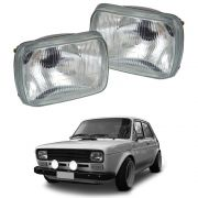 Par de Faróis – Fiat 147 - Modelo Original – 76 77 78 79 80 - Marca Inov9