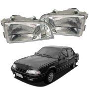 Par de Faróis – Monza - Modelo original / Máscara Cromada – 85 86 87 88 89 90 91 92 – Marca Inov9