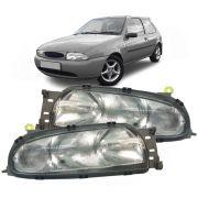Par Farol Fiesta Hatch Sedan Courier 96 97 98 99 Lente Vidro Pisca Cristal Marca Inov9