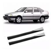 Spoiler Lateral Fiat Brava 1999 2000 01 02 03 Aplique Prata