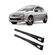 Spoiler Lateral Peugeot 206 98 99 00 01 02 03 04 05 06 07 08 09 10 4 Portas Cor Preta Bi-Partido Marca Inovway