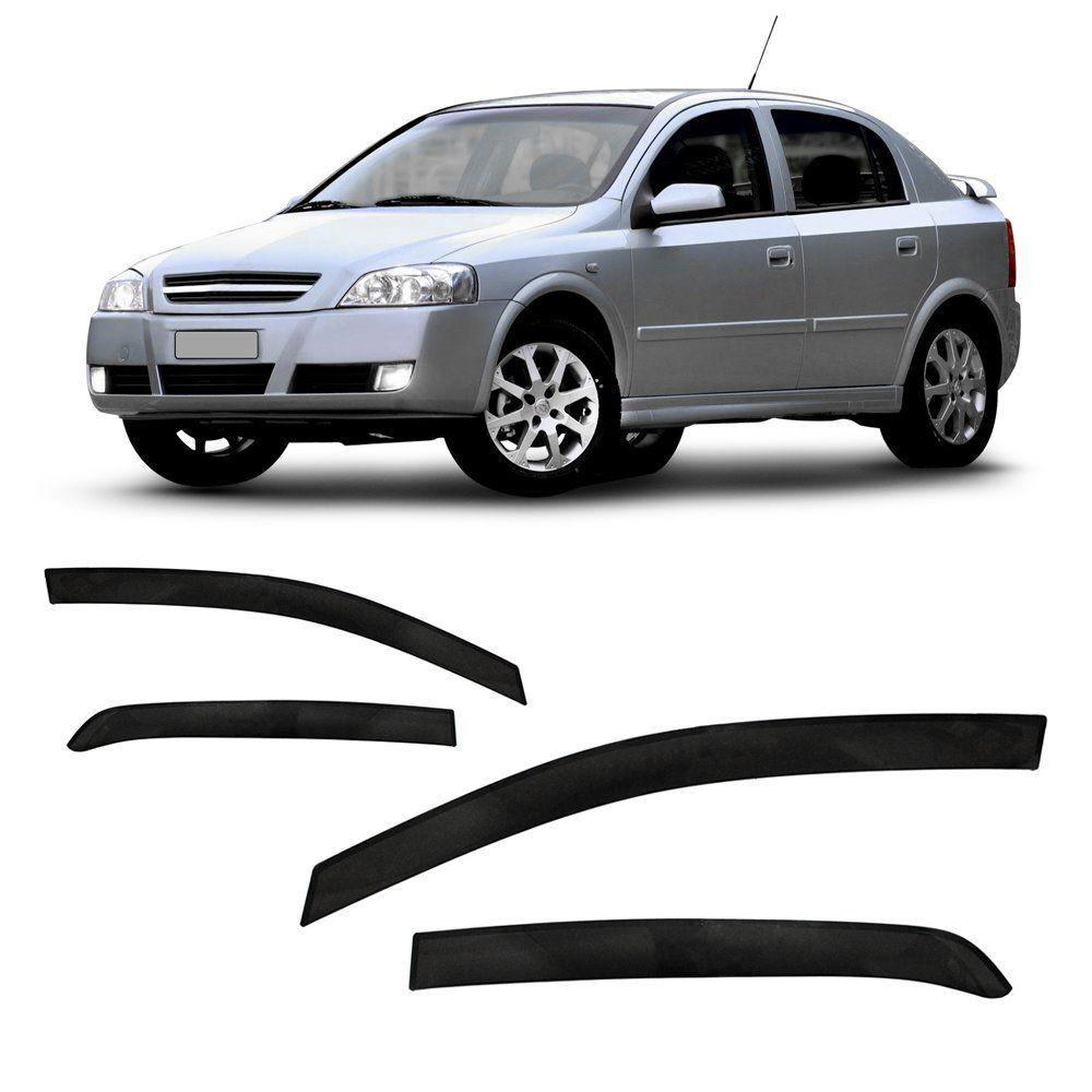 Calha de Chuva Astra Sedan e Hatch 4 Portas – Preto Sem Transparência – 03 04 05 06 07 08 09 10 11 – Marca Ibrasa  - Artmilhas