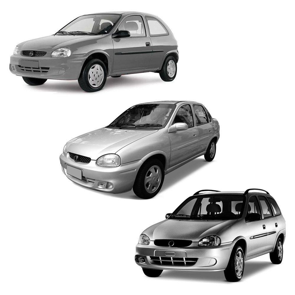 Calha Automotiva Corsa Classic 2003 2004 2005 A 2010 Fumê 4p  - Artmilhas