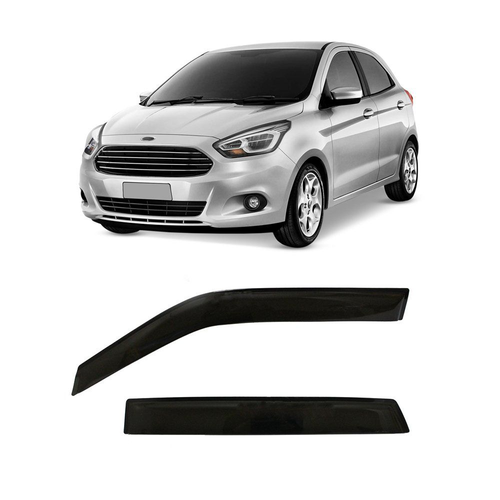 Calha Automotiva Ford Ka 2014 2015 2016 4 Portas Fumê  - Artmilhas