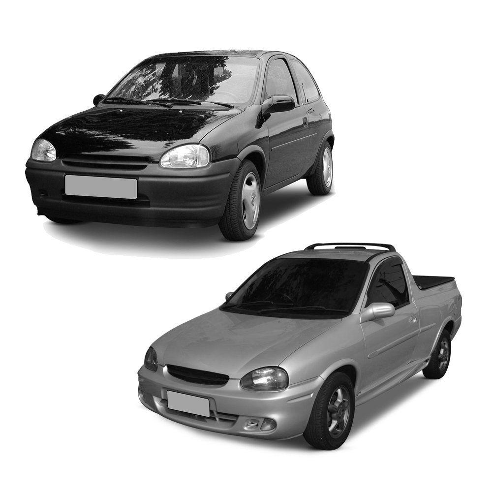 Calha Corsa e Corsa Pick-up 2 Portas Preto Sem Transparência 91 92 93 94 95 96 97 9 99 00 01 02 03  Marca Ibrasa  - Artmilhas