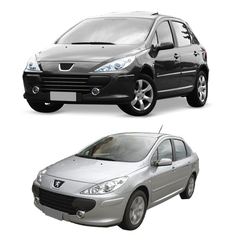 Calha de Chuva Peugeot 307 Hatch e Sedan Escapade 4 Portas Preto Sem Transparência 01 02 03 04 05 06 07 08 09 10 11 12 Marca Ibrasa   - Artmilhas