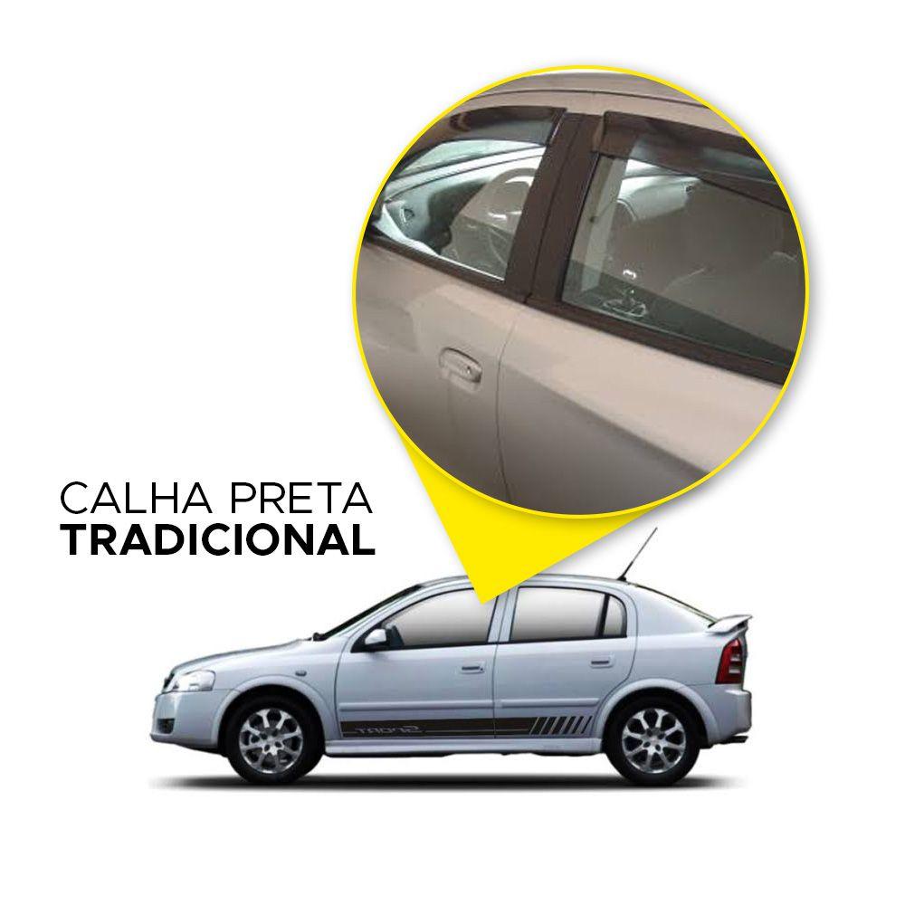 Calha de Chuva Astra Sedan 99 00 01 02 03 04 05 06 07 08 09 10 11 4 portas Fumê  - Artmilhas
