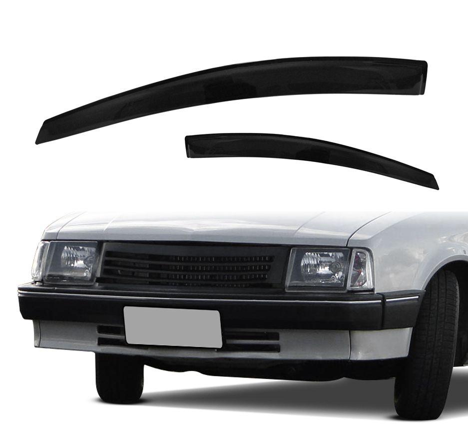 Calha de Chuva - Chevette Com Quebra Vento - 2 Portas - Modelo Preto / Fumê - Marca Ibrasa  - Artmilhas