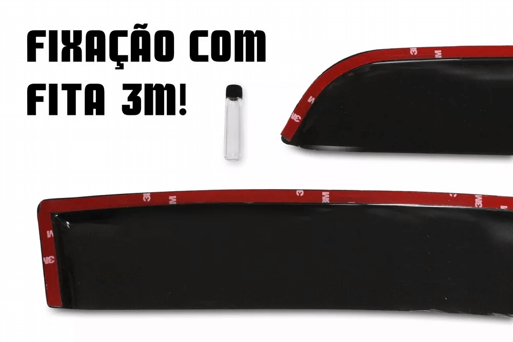 Calha de Chuva - Citroen C3 4 Portas - Modelo Fumê - 03 04 05 06 07 08 09 10 11 - Marca Ibrasa  - Artmilhas