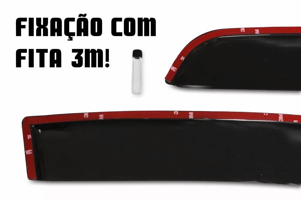 Calha de Chuva - Citroen C3 4 Portas - Modelo Fumê - 03 04 05 06 07 08 09 10 11 - Marca Ibrasa