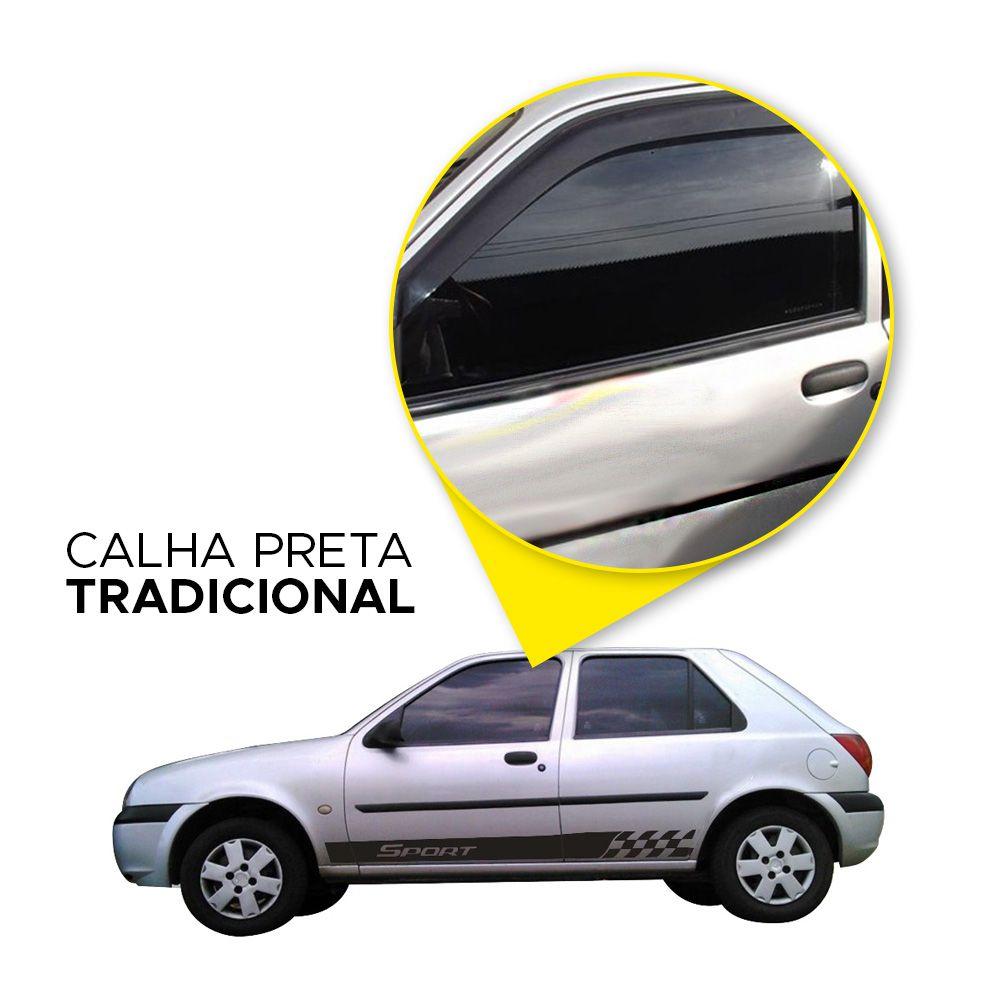 Calha de Chuva Fiesta Hatch 95 96 97 98 99 00 01 02 2 portas Fumê  - Artmilhas
