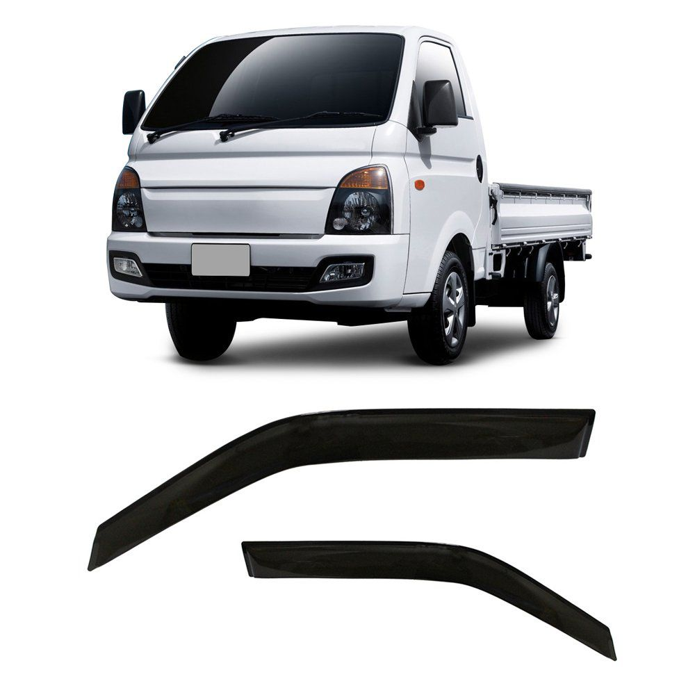 Calha de Chuva Hyundai HR 2 Portas Preto Sem Transparência 05 06 07 08 09 10 11 12 13 14 15 16 Marca Ibrasa   - Artmilhas
