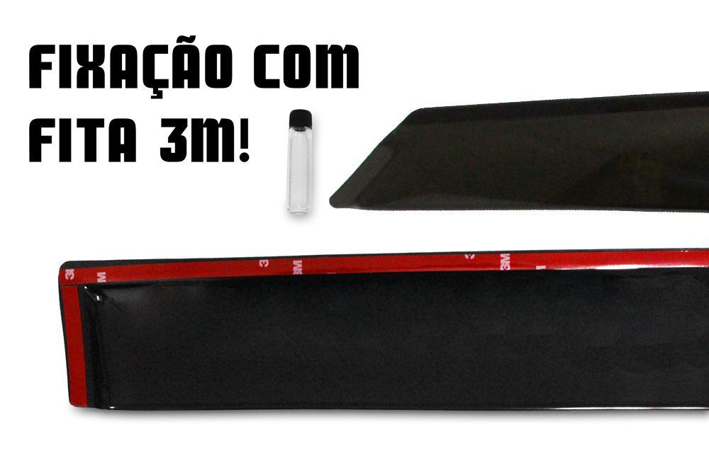 Calha de Chuva - Hyundai HR - Preto / Fumê - 2 Portas - 05 06 07 08 09 10 11 12 13 14 - Marca Ibrasa  - Artmilhas