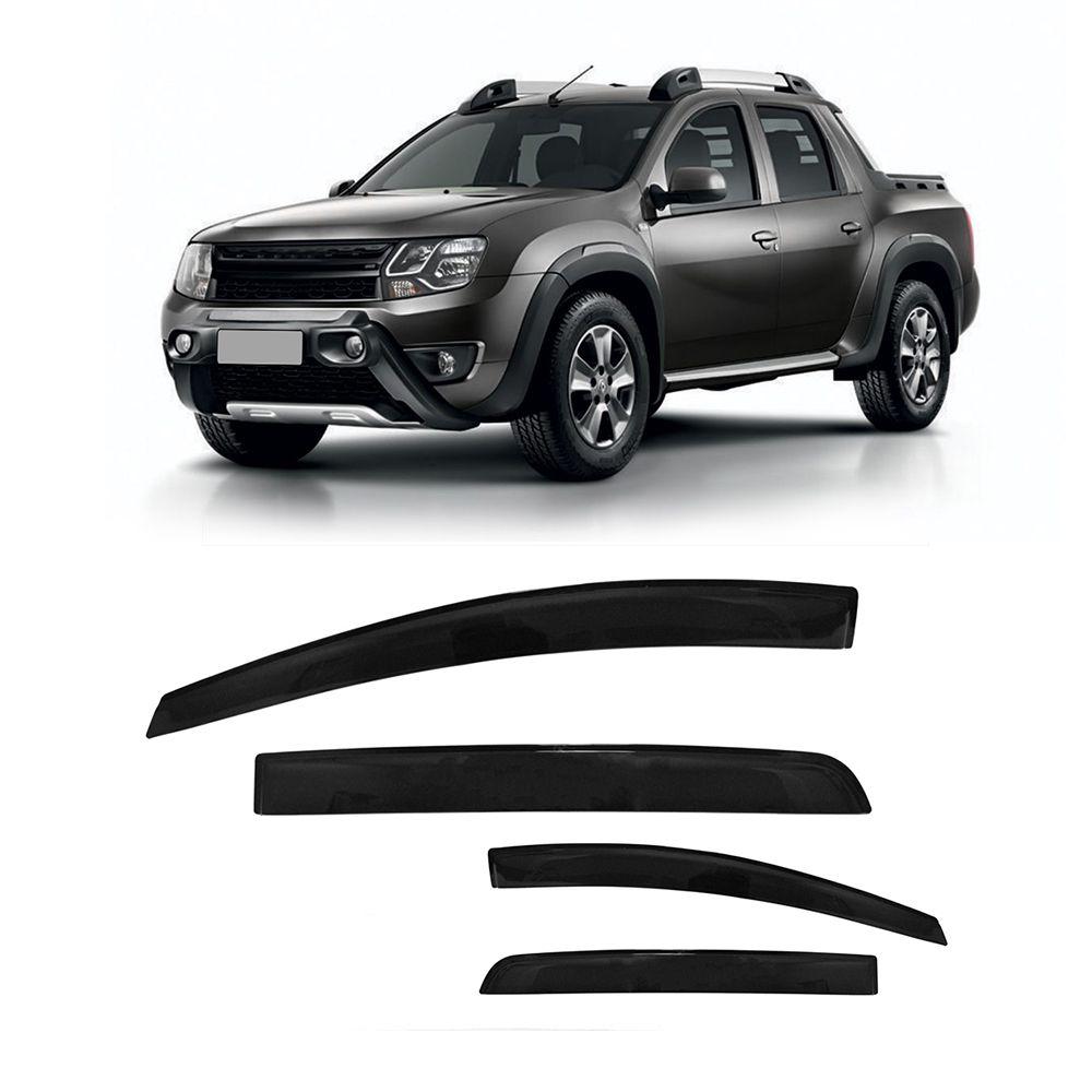 Calha de Chuva Renault Duster e Oroch 4 Portas Preto Sem Transparência 11 12 13 14 15 16 Marca Ibrasa  - Artmilhas