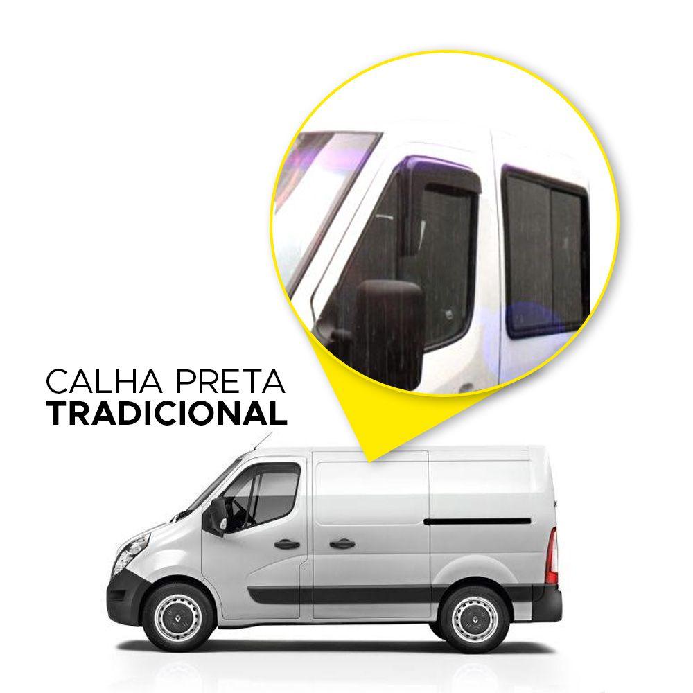 Calha de Chuva Renault Master 02 03 04 05 06 07 08 09 10 11 2 portas Fumê Marca Ibrasa  - Artmilhas