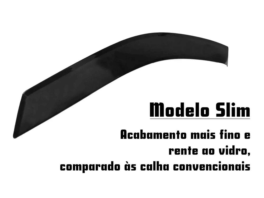 Calha de Chuva Slim - Cobalt - Modelo Preto Slim 4 Portas - 12 13 14 15 - Marca Ibrasa