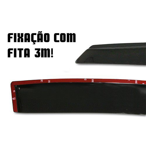 Calha Hb20 Hatch Hb20x 2012 2013 2014 2015 4p Slim Fumê#2194  - Artmilhas