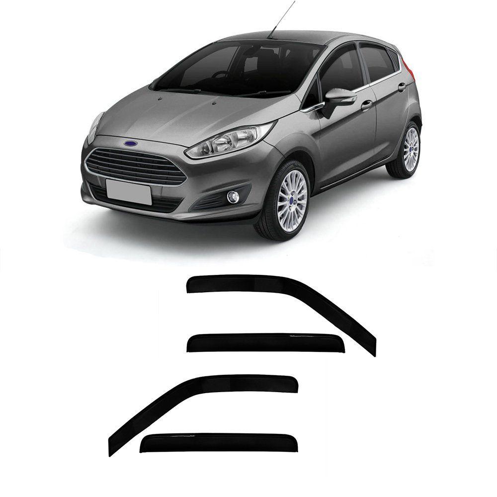 Calha New Fiesta Hatch 4 Portas Preto Sem Transparência  11 12 13 14 15 Marca Ibrasa  - Artmilhas