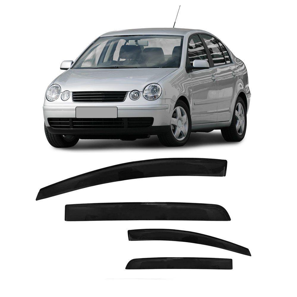Calha Polo Sedan 2003 04 À 2011 2012 2013 2014 4p Fumê #2220  - Artmilhas