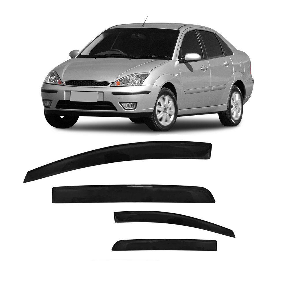 Calha de Chuva Focus Hatch e Sedan 4 Portas Preto Sem Transparência 01 02 03 04 05 06 07 08 Marca Ibrasa   - Artmilhas