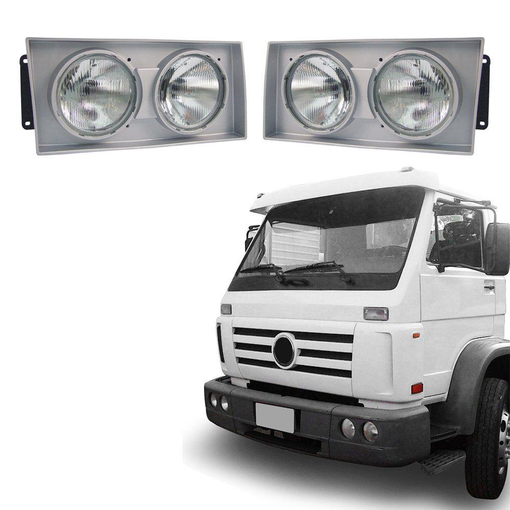 Farol Aro Cinza– Caminhões Volkswagem – Modelo Original – 00 01 02 - Marca Inov9  - Artmilhas