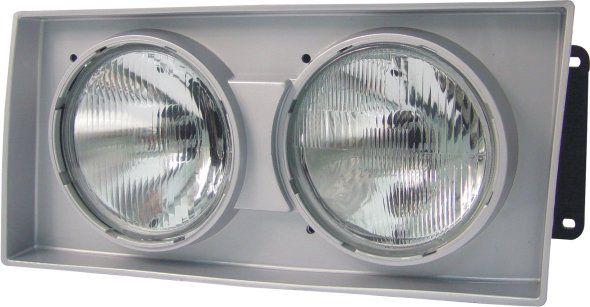 Farol Caminhão Volkswagen 00 01 02 Lente de Vidro Foco Duplo Aro Cinza
