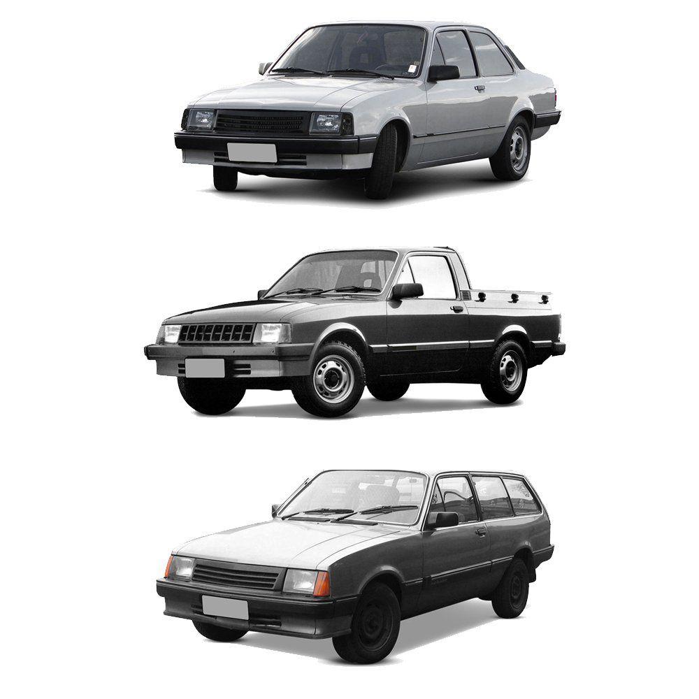 Farol Chevette, Marajó e Chevy Cromado de Vidro com Lâmpadas T10 13 LEDS – Modelo Original – 83 84 85 86 87 88 89 90 91 92 93 - Marca INOV9