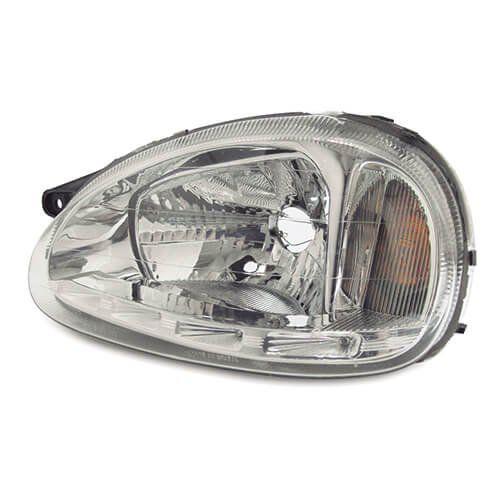 Farol Com LED – Corsa, Corsa Sedan, Corsa Wagon, Corsa Classic, Pickup Corsa - Prata / Máscara Cromada - Modelo Esportivo / Tuning – 94 95 96 97 - Marca Inov9  - Artmilhas