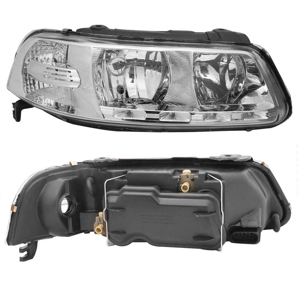 Farol Com LED Gol G3, Parati G3 e Saveiro G3 Foco Duplo Máscara Cromada Modelo Esportivo 00 01 02 03 04 05 Marca Inov9  - Artmilhas