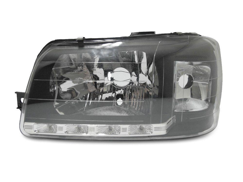 Farol Com LED– Uno e Fiorino – Preto / Máscara Negra - Modelo Esportivo / Tuning –04 05 06 07 08 09 10 11 12 13 – Marca Inov9  - Artmilhas