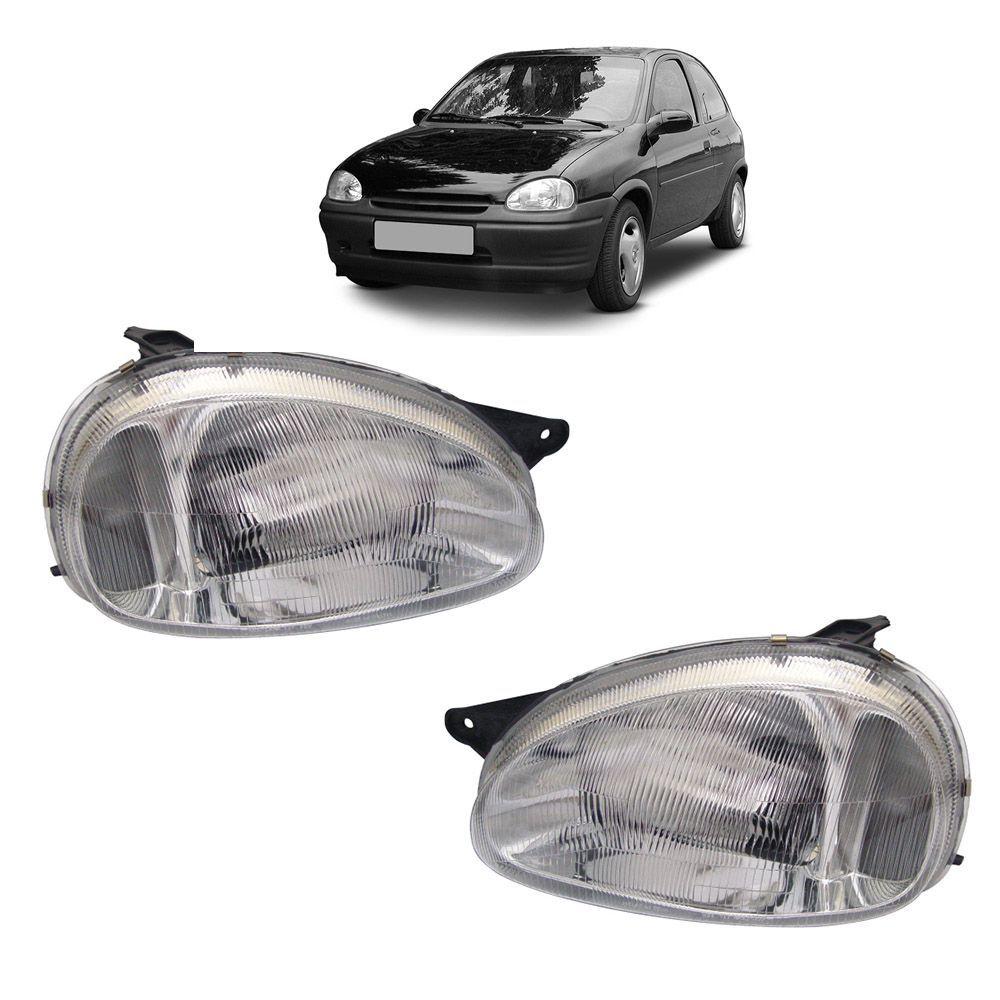 Farol Corsa Hatch Wagon Pick-up Sedan 94 95 96 97 98 99 00 01 02 03 Corsa Classic 03 04 05 06 07 08 09 10 Lente de Acrílico Pisca Cristal