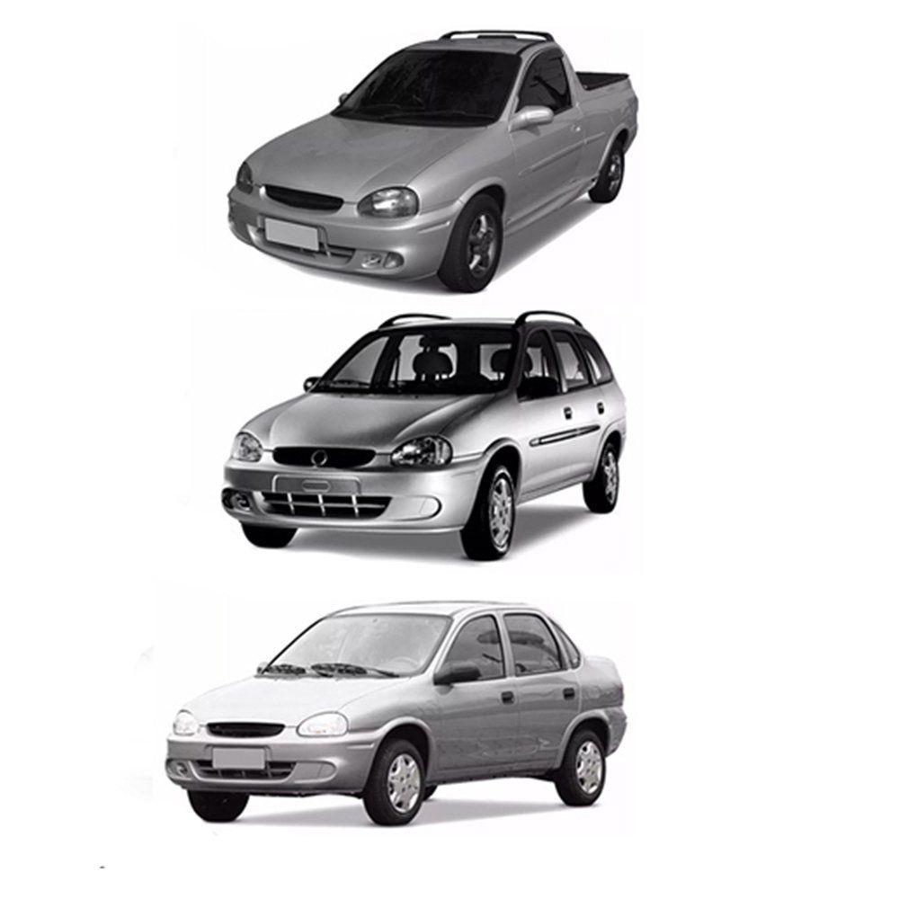 Farol Corsa, Corsa Wagon, Classic e Picku-up Máscara Cromada com Lâmpadas T10 13 LEDS – Modelo Esportivo – 94 95 96 97 98 99 00 01 02 - Marca INOV9
