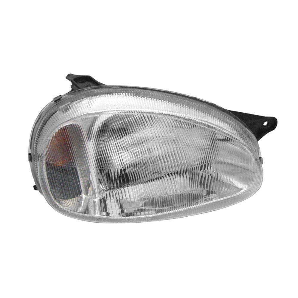 Farol Corsa, Corsa Wagon e Pick-up Máscara Cromada com Lâmpadas T10 13 LEDS – Modelo Original – 94 95 96 97 98 99 00 01 02 - Marca INOV9