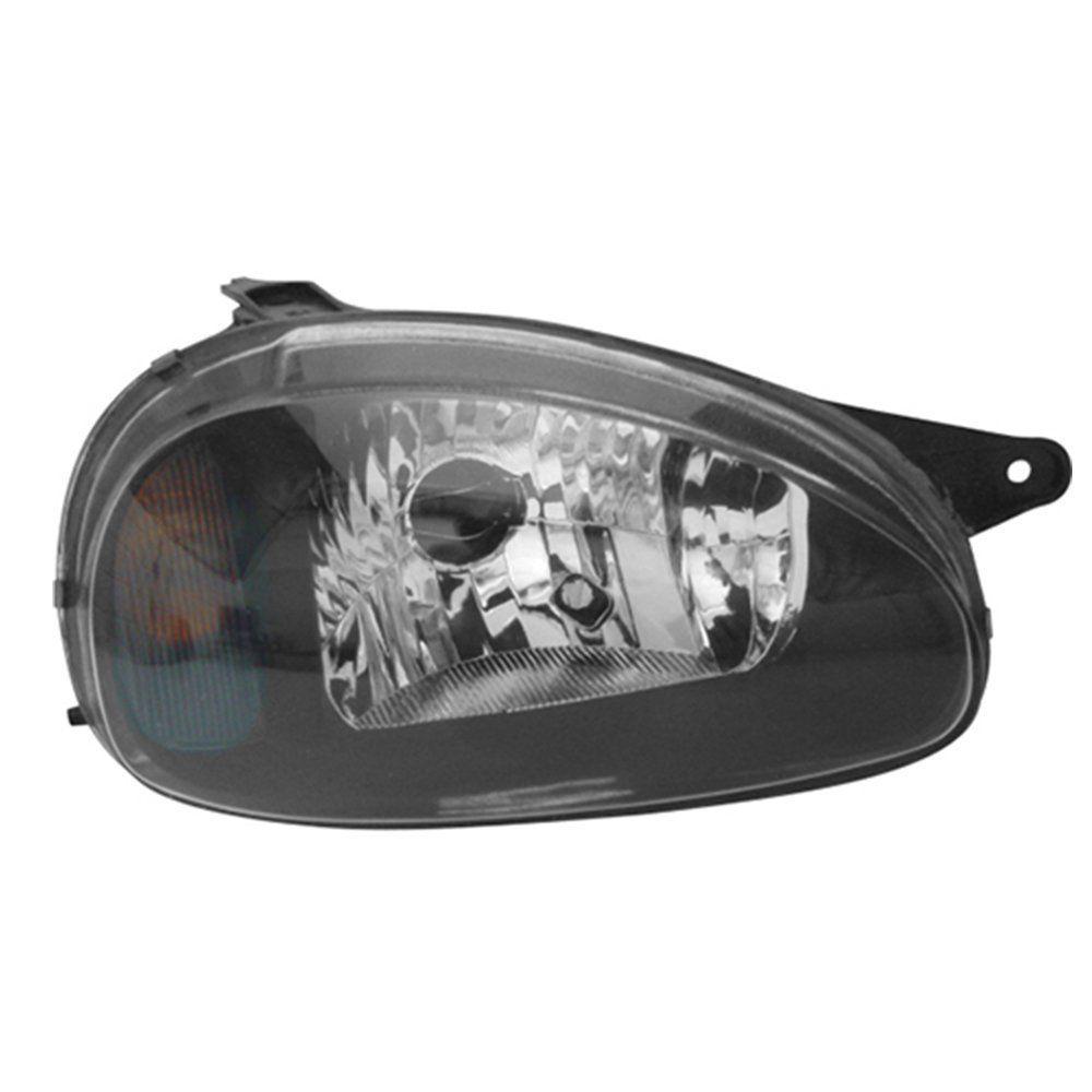 Farol Corsa, Corsa Wagon e Pick-up Máscara Negra de Vidro com Lâmpadas T10 13 LEDS – Modelo Original – 94 95 96 97 98 99 00 01 02 - Marca INOV9