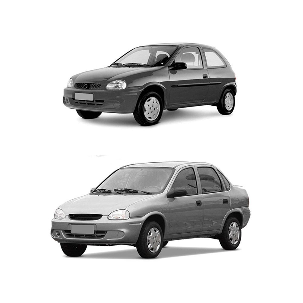 Farol Corsa Hatch Wagon Pick-up Sedan 94 95 96 97 98 99 00 01 02 03 Corsa Classic 03 04 05 06 07 08 09 10 Lente de Vidro Pisca Cristal Carcaça Cinza