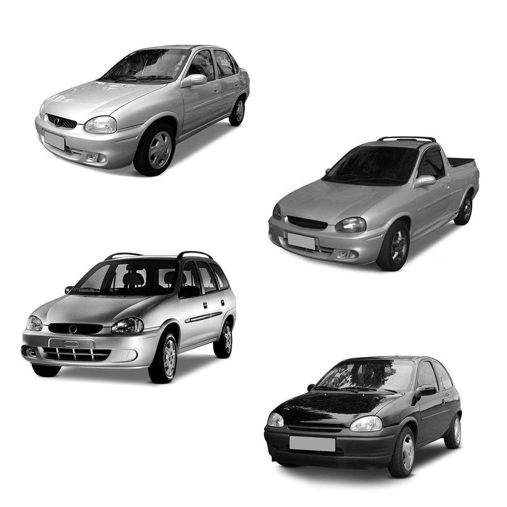 Farol Corsa, Wagon e Pick-up de Vidro com Lâmpadas T10 13 LEDS – Modelo Original – 94 95 96 97 98 99 00 01 02 - Marca INOV9