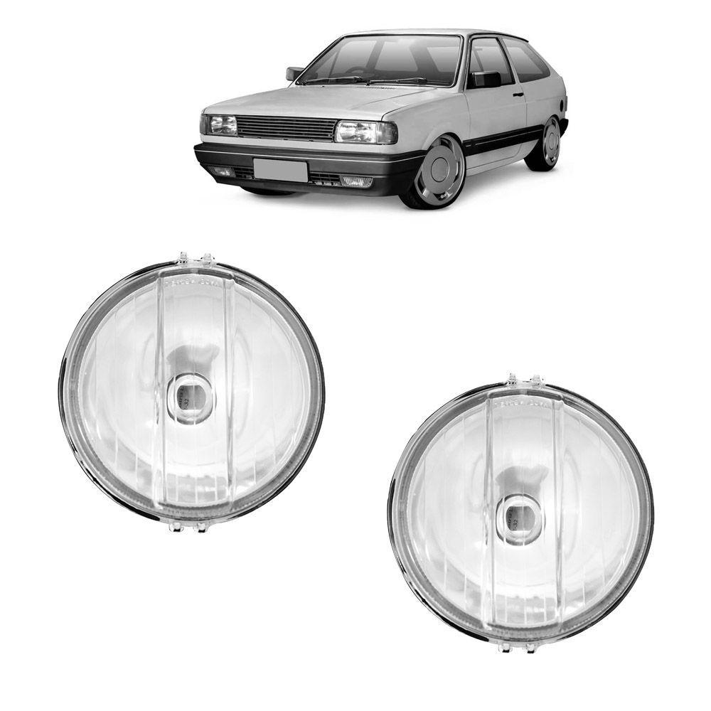 Farol de Milha Gol Quadrado GTI GTS 87 88 89 90 91 92 93 94 95 96 138mm Modelo Universal Lente de Vidro Marca Inovway